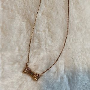 Rose gold Kate Spade bow necklace